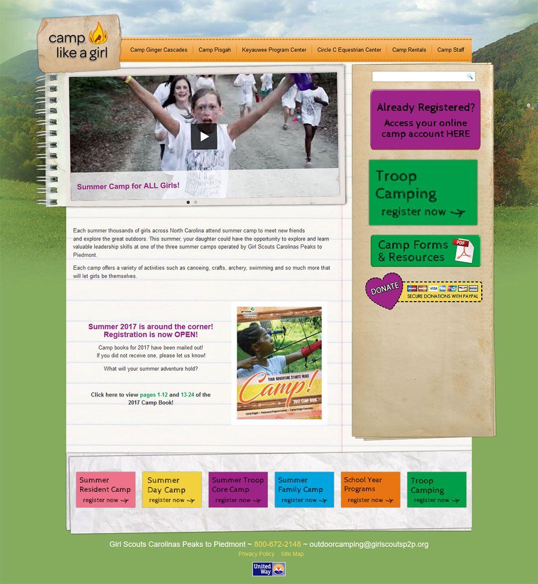 CLAG Client Portfolio Screenshot