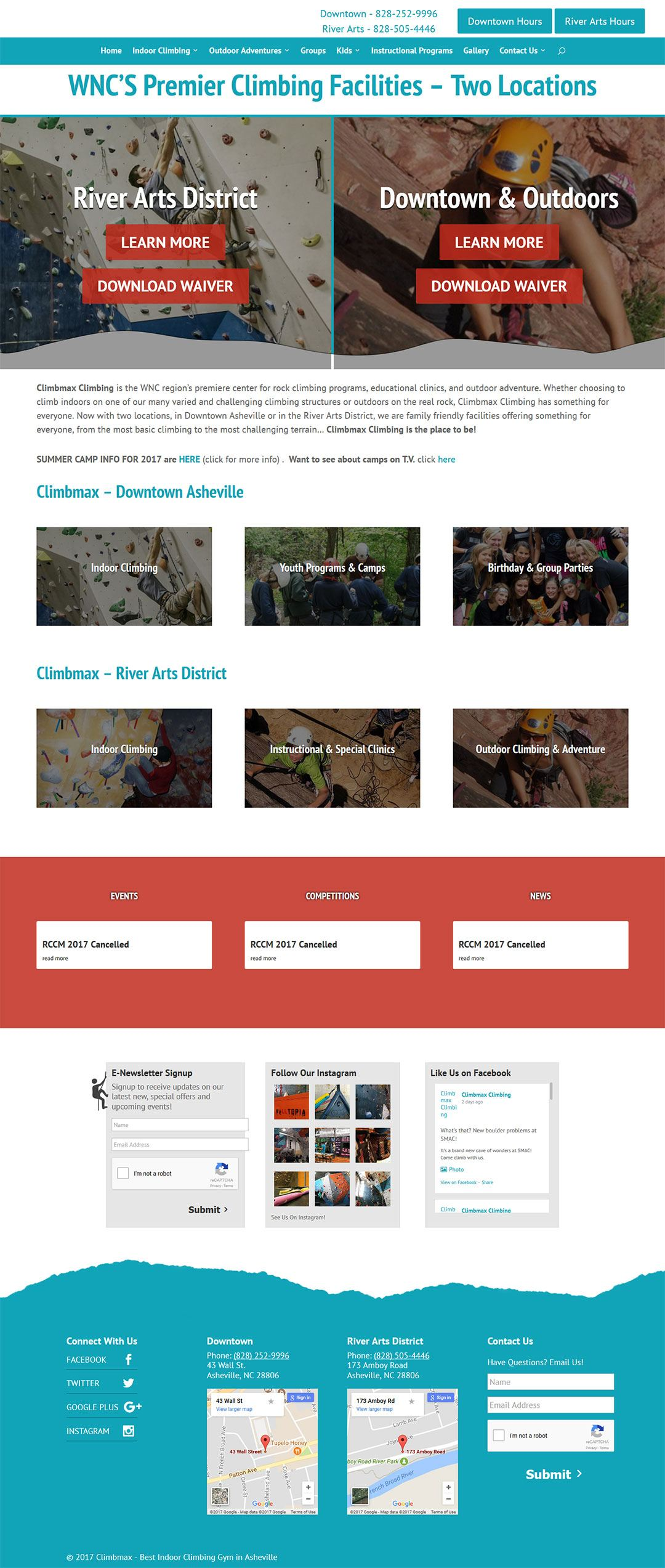 Climbmax Client Portfolio Screenshot