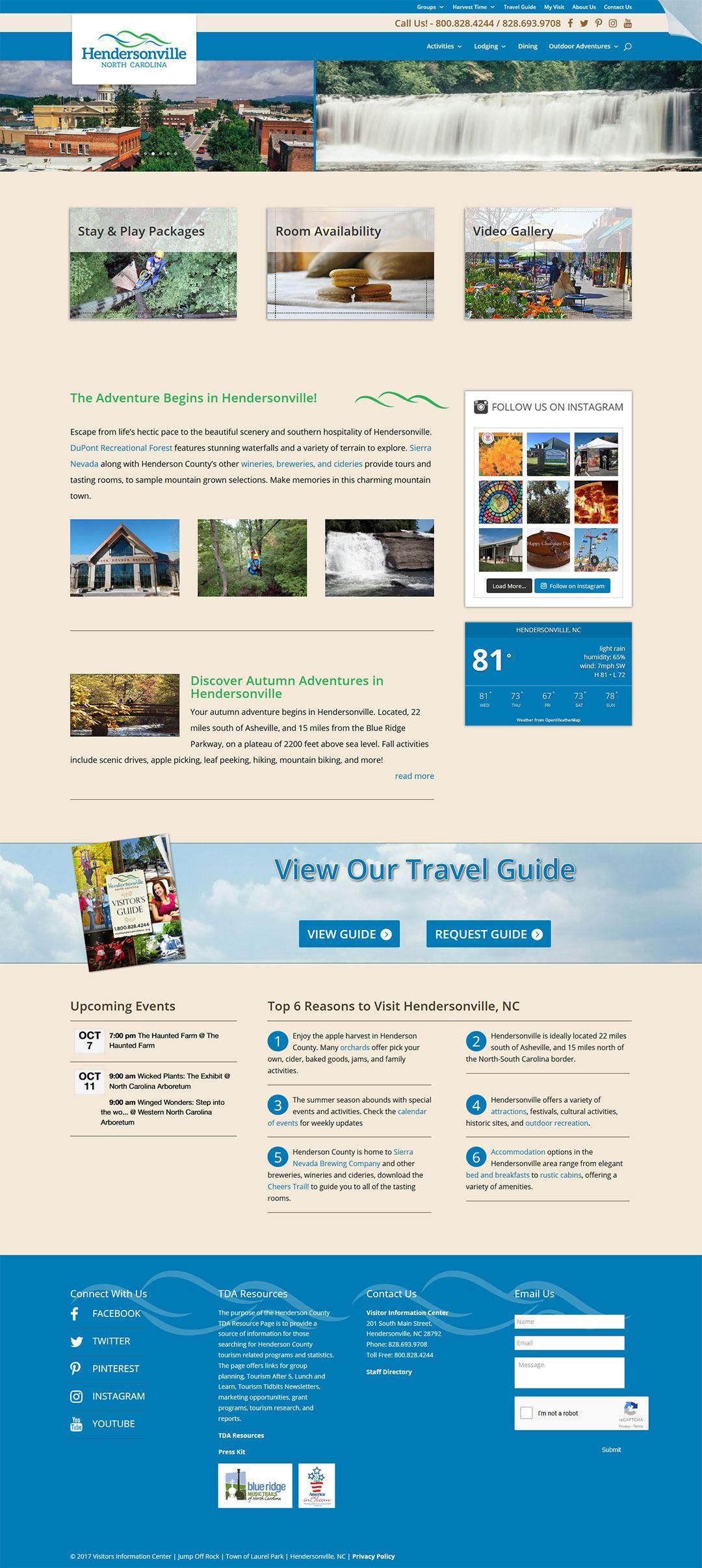 Hendersonville TDA Client Portfolio Screenshot