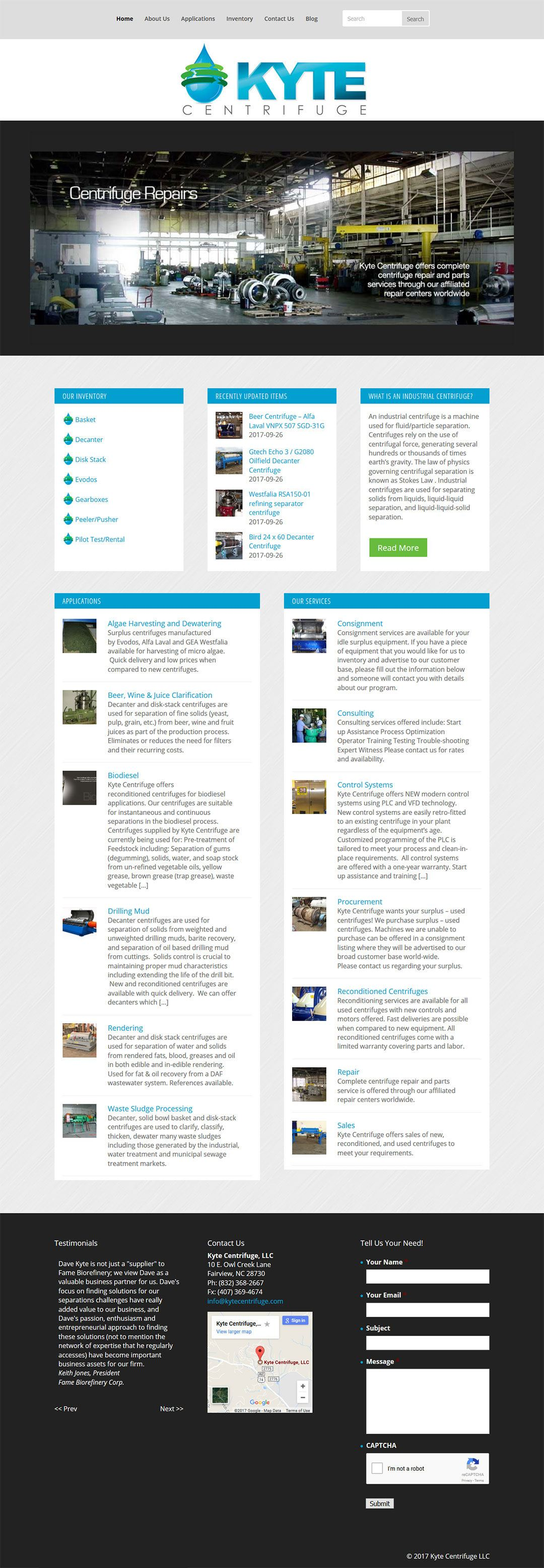 Kyte Centrifuge Client Portfolio Screenshot