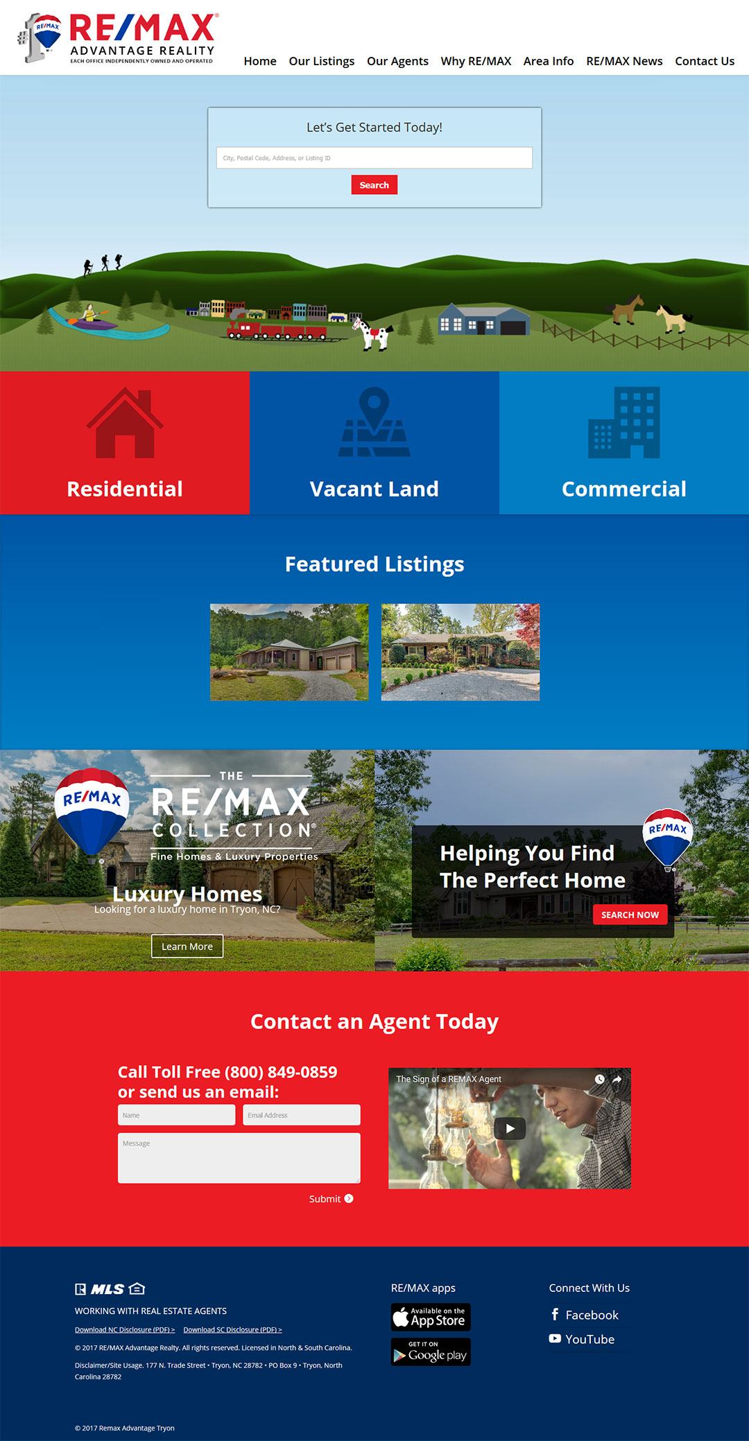 Remax Advantage Of Tryon Client Portfolio Screenshot