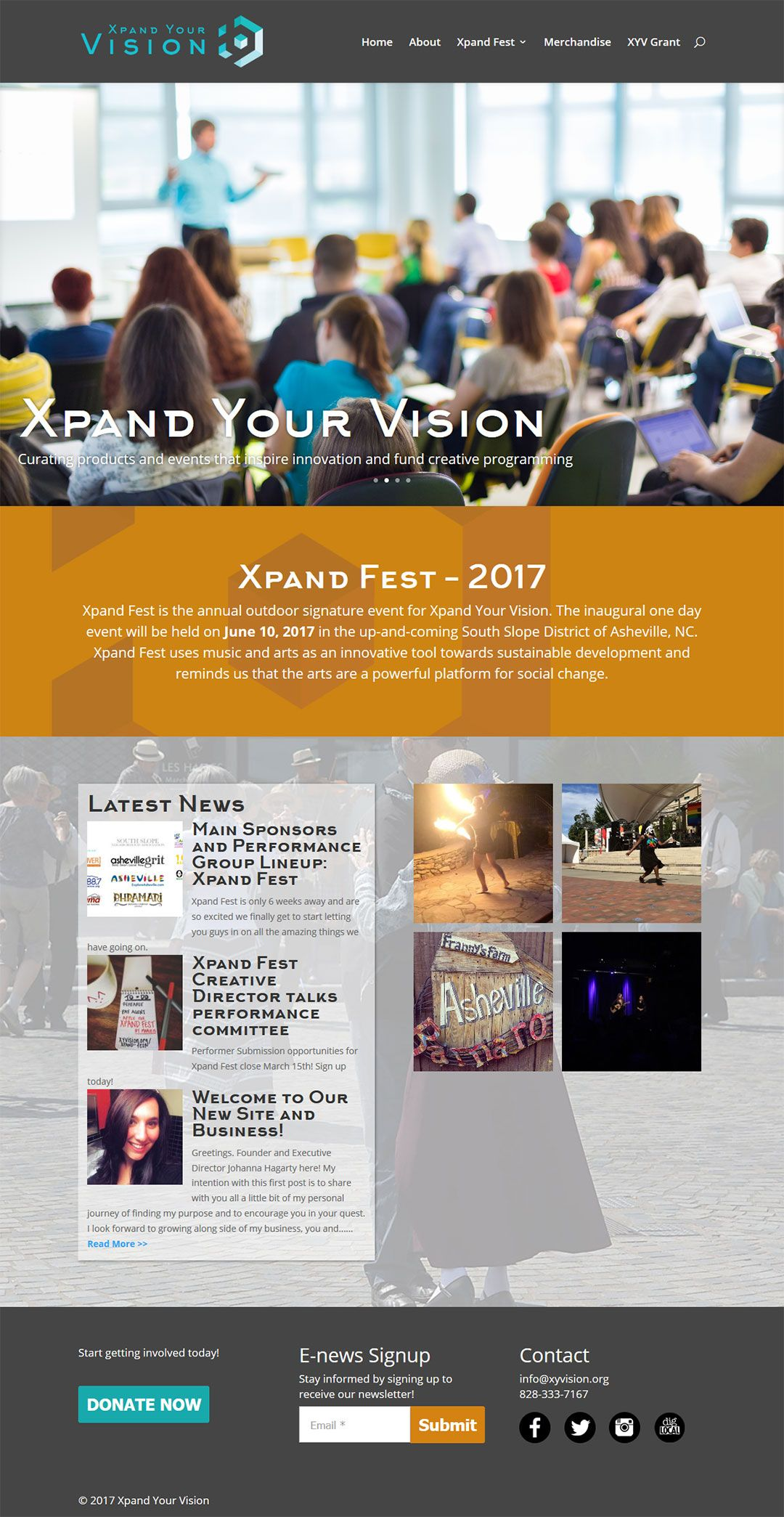 XY Vision Client Portfolio Screenshot