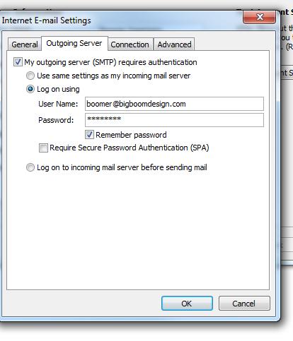 Outlook Email Setup Through GoDaddy - Big Boom Design